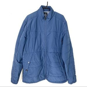 Prana Quilted Puffer Jacket Long Blue Breathe XL